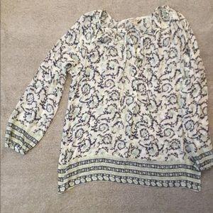 Lucky Brand half button tunic
